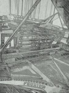 Pianos in a room