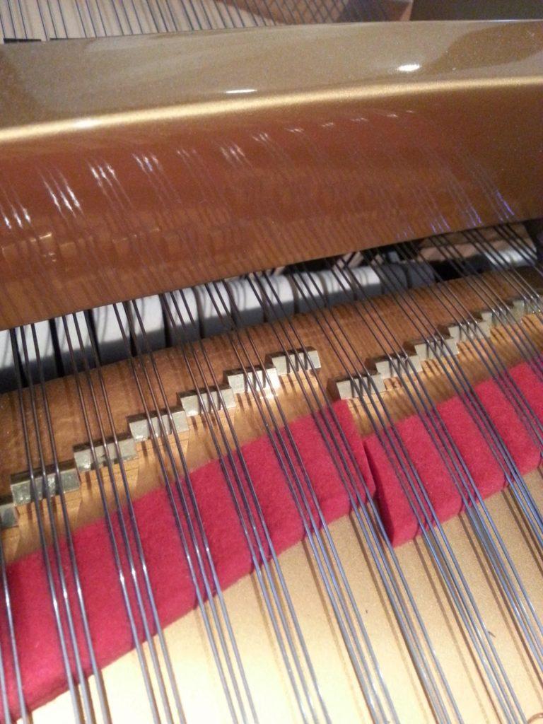 Tuned front duplex scale on Estonia grand piano