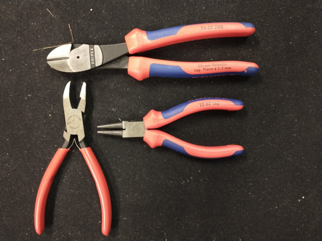 a trio of knipex pliers
